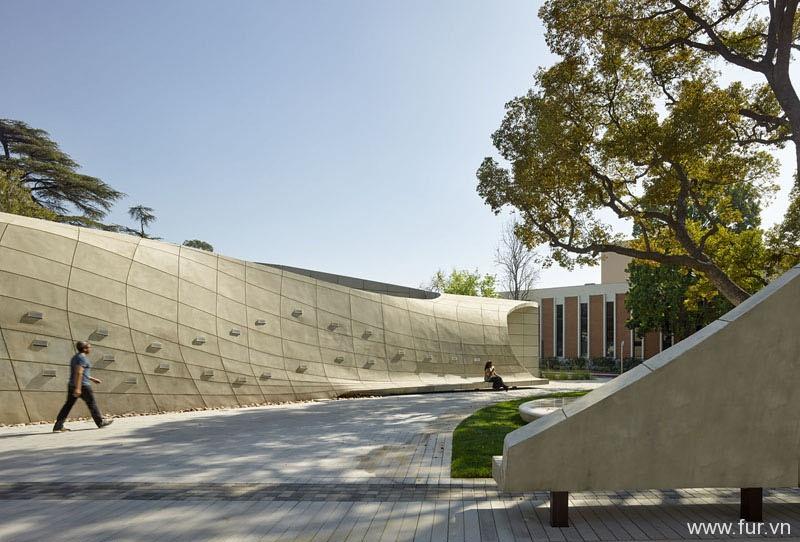 Concrete wall area