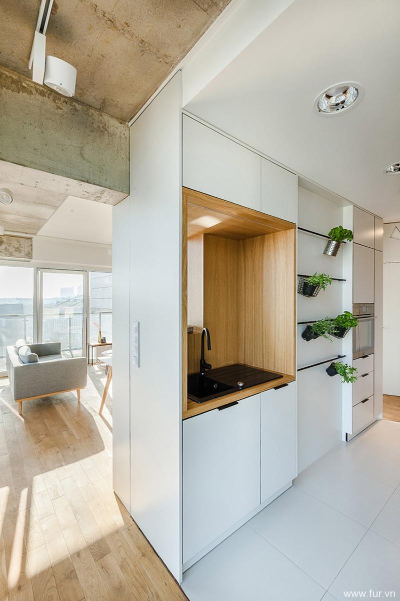 Poznan Apartment kitchen cabinet