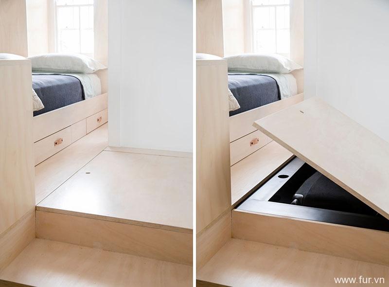 Small Sydney Apartment floor storage