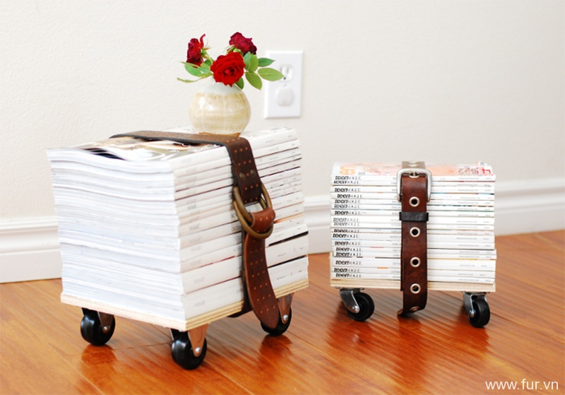 Upcycled Magazine Stool Tutorial