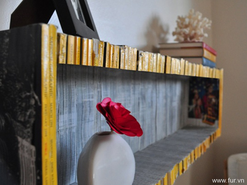 How to Turn Old Magazines into a Bookshelf