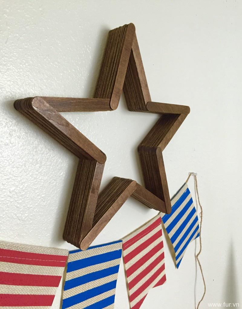 DIY Patriotic Wooden Star Decor