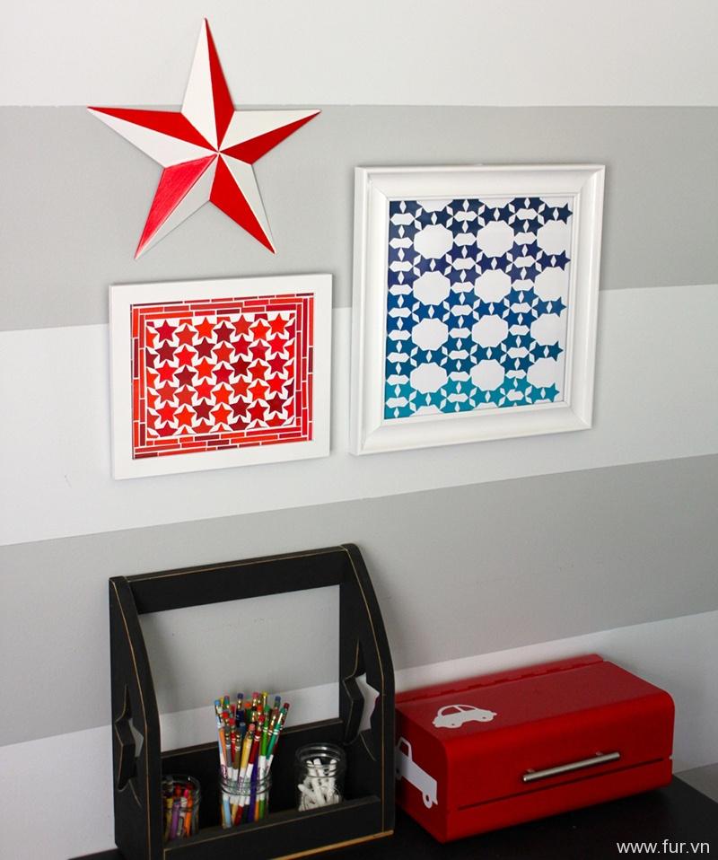 Patriotic Paint Chip Art
