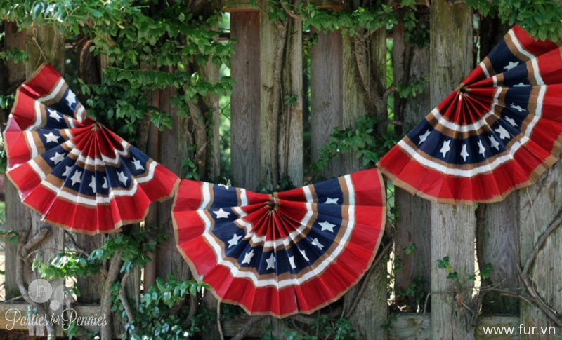 4th of July Decorations Using Paper Bags