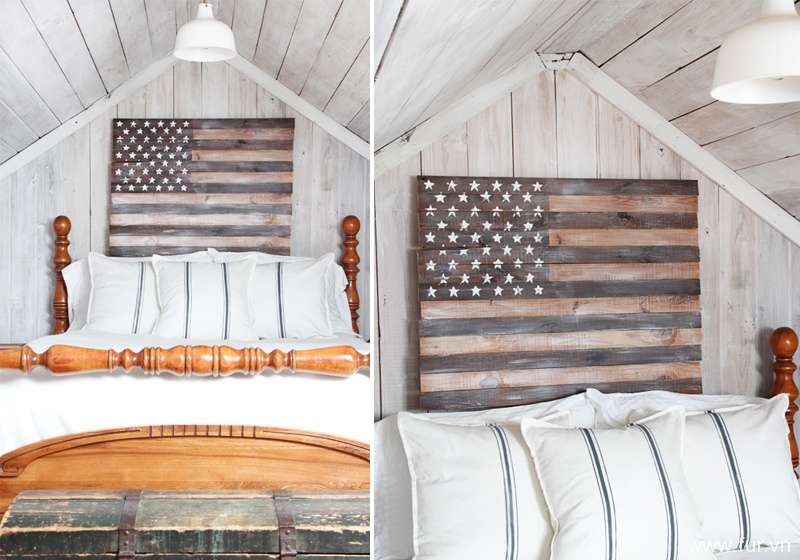 DIY Planked American Flag