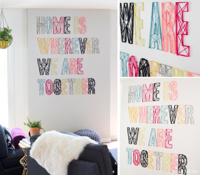 Nail & Yarn Wall Art Pt. 2