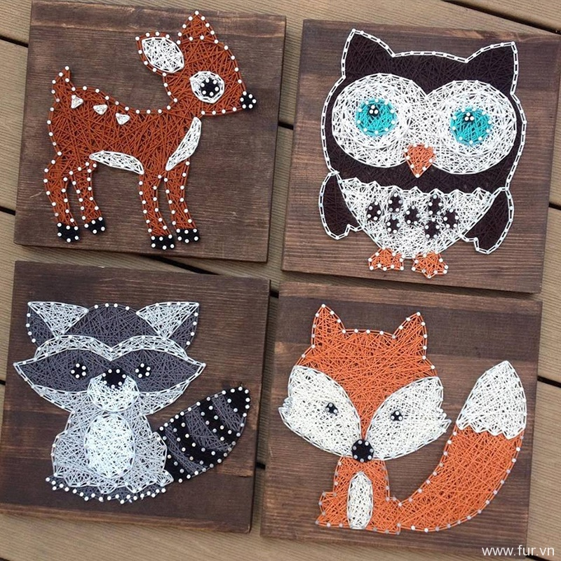 Woodland Animals String Art