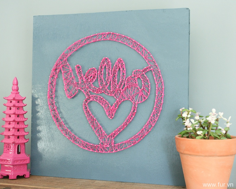 DIY String Art Hello