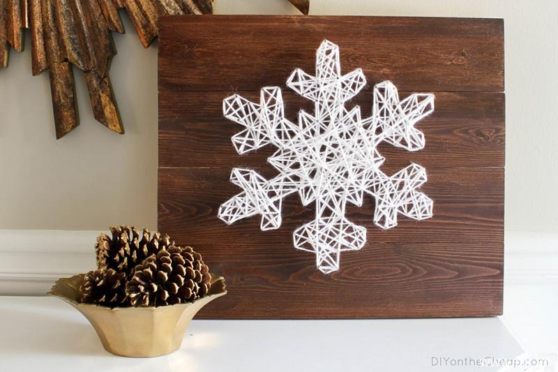 DIY Snowflake String Art