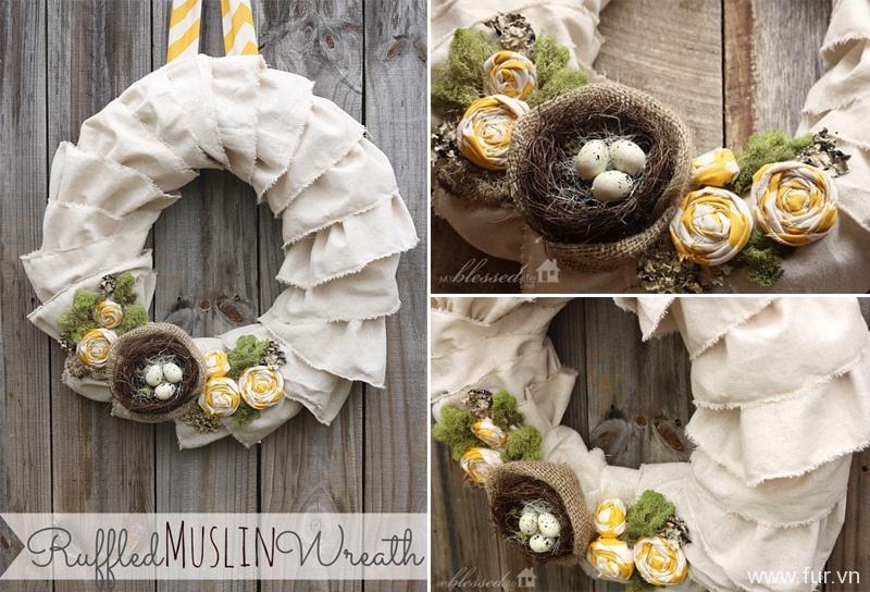 Ruffled Muslin Wreath Tutorial