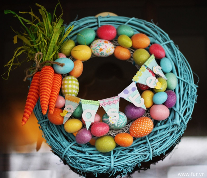 Carrot and Bunting Wreath