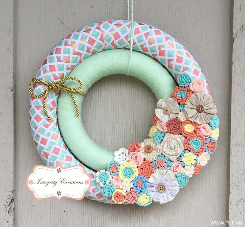 Double Wreath - Yarn Wrapped