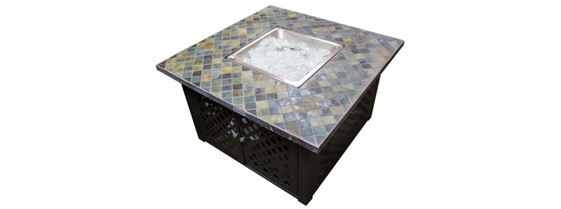 modern square fire pits