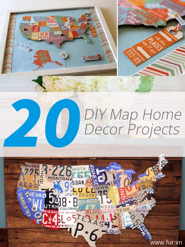 diy map decor