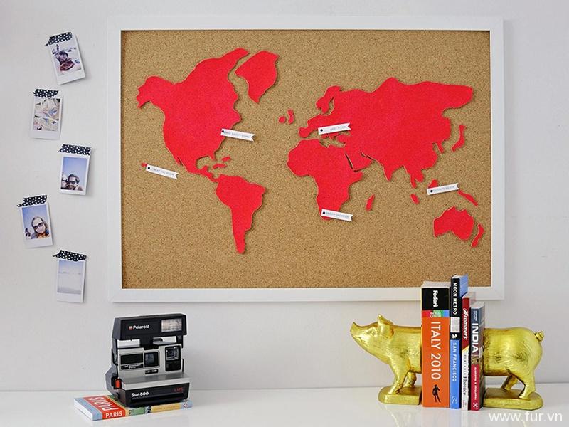 DIY Cork World Map