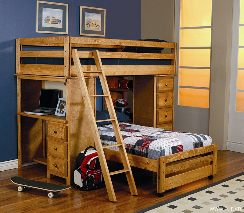 Bunk Beds & Loft Beds With Desk You'll Love