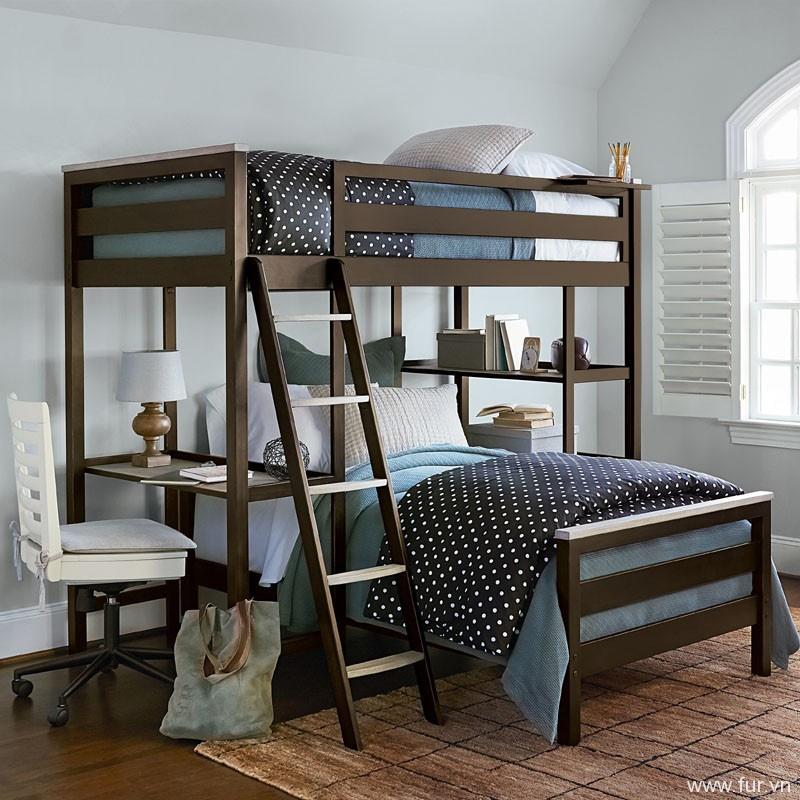 Levi Loft Twin Bunk Bed