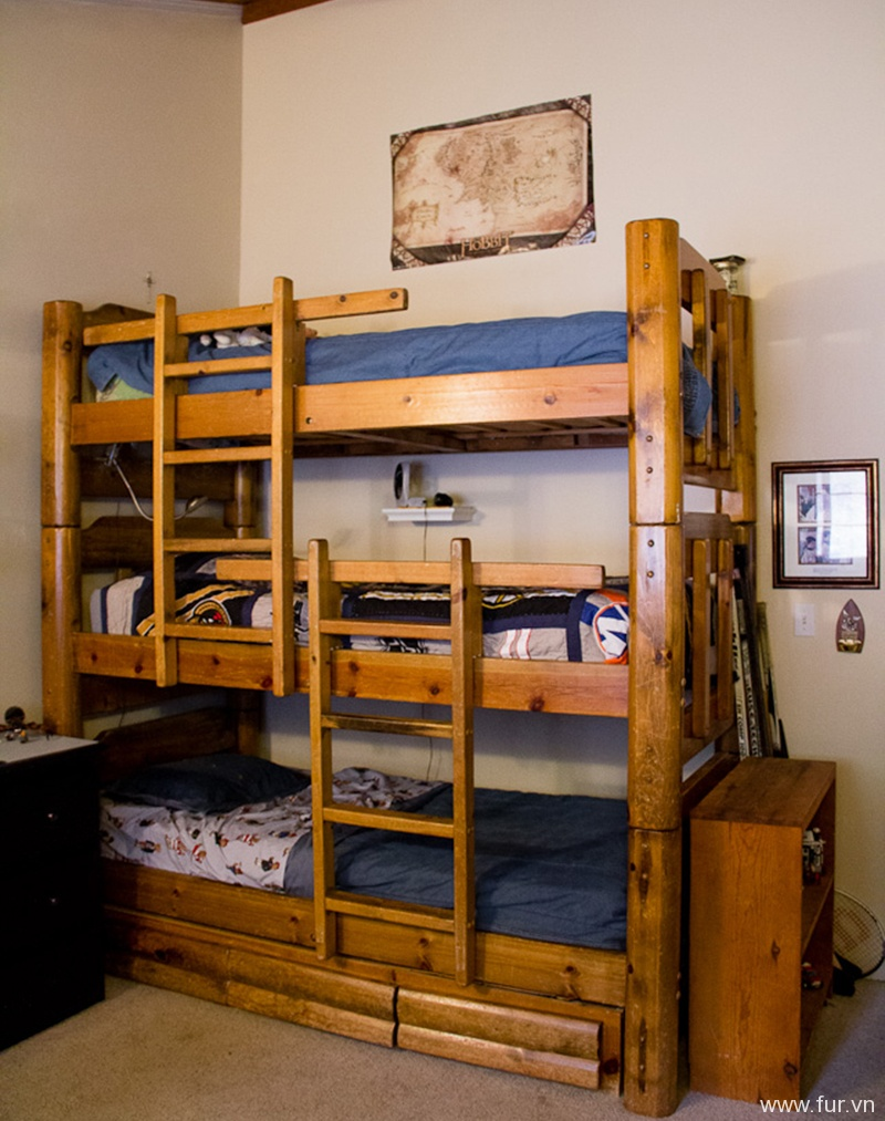 The Boy's Bedroom and Triple Bunk Bed