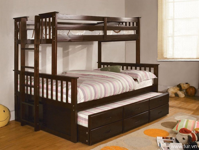 Chaparral Twin over Full Combo Bunk Beds Rich Espresso