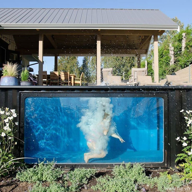Shipping Container Swimming Pool materials
