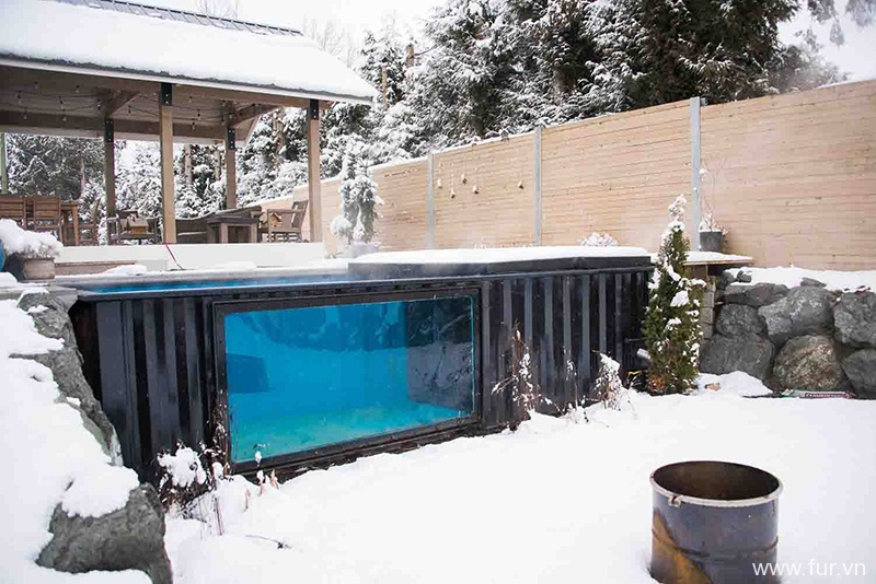 Shipping Container Swimming Pool winter