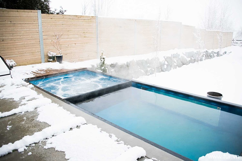 Shipping Container Swimming Pool hot