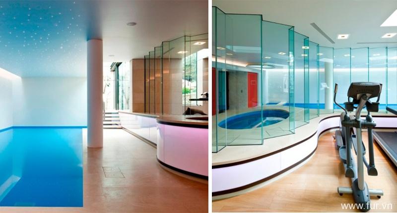 Basement pool in London