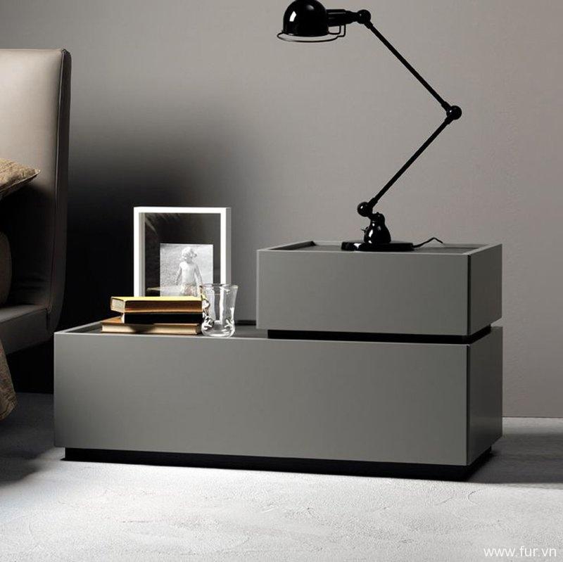 Como L-Shape 2 Drawer Bedside Table