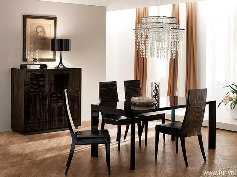 Extendable Dining Table Nightfly Ebony By Rossetto