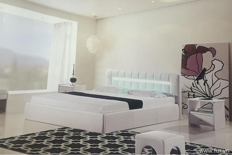 modern bed with storage