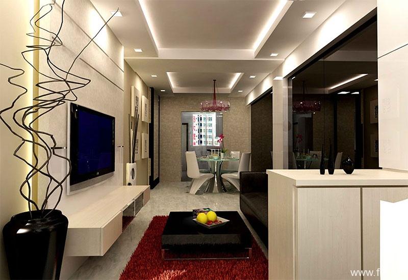 23 sq. meter studio interior design