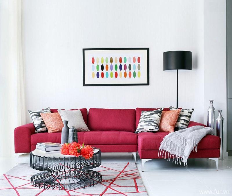 red furniture