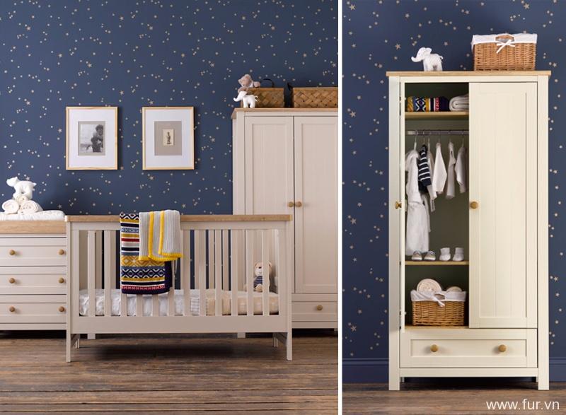 Mothercare Lulworth 3-piece Nursery Furniture Bundle - White Pepper